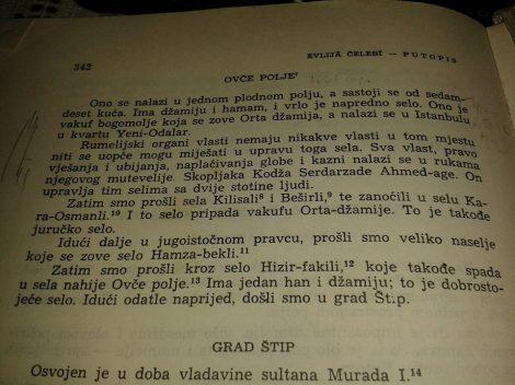 Evlija Celebi Ovce Pole Patepis