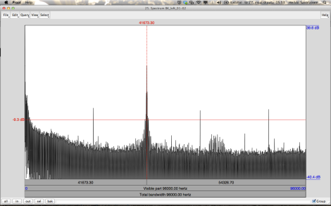 The signal at 41.6Khz